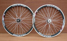 Fixed Gear Track Road 700c 40mm Wheels Black Rim w white spokes Sealed Bearing