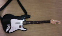 Rock Band 4 PS4 Black Fender Stratocaster Guitar Only Playstation 4 Mad Catz