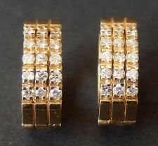 Estate 4KT YELLOW GOLD & DIAMOND EARRINGS .65 cts  6.9 grams