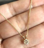 Goldsmiths 9ct Yellow Gold Solitaire Diamond Necklace 0.25ct Pendant & Chain