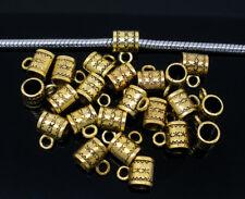 10 x Antique Gold Charm Hanger Bail Link fit european bracelet 8mm x 6mm