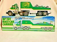 BP Toy Race Car Carrier w/Working Lights & Removable F1 Style Race Car - 1993