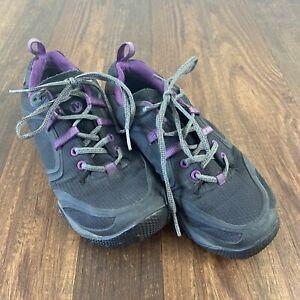 Merrell Gore-Tex Walking Hiking Running Shoes Womens Size 7 Gray Black Purple