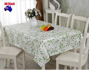 Pattern Thick Quality 137x200cm Rectangle Plastic Vinyl PVC Tablecloth Resistant