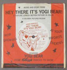 "1964 HEY THERE IT'S YOGI BEAR 33rpm 7"" record & sleeve Kellogg's Cereal wb"