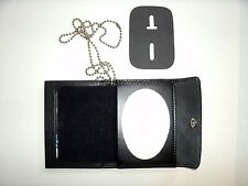 LAPD Police Snap Wallet Recessed Badge Cut Out & ID Window  Leather CT-03LGR
