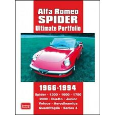 Alfa Romeo Spider Ultimate Portfolio 1966-1994 book paper car