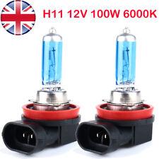 2x H11 711 100w Super Bright White Xenon Headlight Front Fog Drl Bulbs Lamps 12v