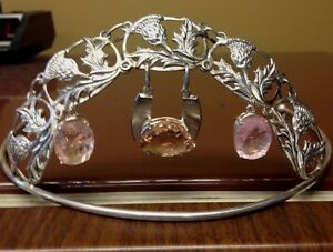 Designer Custom Chistick's  Huge 28+ct Morganite Platinum Sterling Silver Tiara