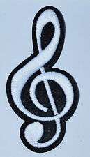G clef treble musical note music scale classical applique iron on patch