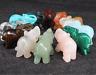 Natural Hand Carved Elephant Crystal Healing Gemstone Carving Specimen 45*30mm