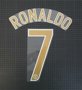 RONALDO #7 2006-2007 Player Size Champions League Gold Nameset Plastic