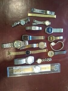 Lot Of Watches For Repair- Citizen, Pulsar, Timex, Sanyo, Cardinal