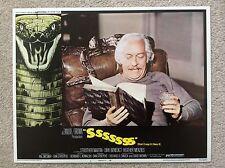 SSSSSSS Original HORROR COBRA SNAKE Lobby Card 1 STROTHER MARTIN DIRK BENEDICT