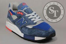 NEW BALANCE CLASSICS M998CSAL MADE IN THE USA NAVY SILVER ORANGE DS SIZE: 10.5