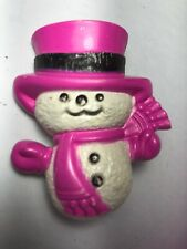 Vintage 1974 Avon Christmas Holiday Glace Snowman Pin
