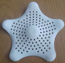 UMBRA STARFISH DRAIN COVER HAIR CATCHER WHITE SILICONE TAB SINK COVER