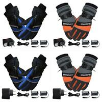 Winter Ski Outdoor USB Thermal Gloves 4000 mAh Rechargeable Heated Gloves
