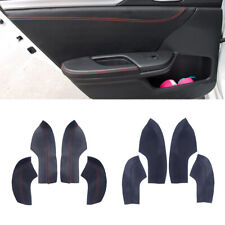 4X Door Armrest Sleeve Cover Trim Leather Shell Fit for Honda Civic 10th 16-18