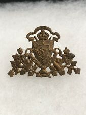 Antique Wwi Maintiens Le Droit Canada Collar Badge