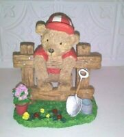 Gardening Bear Figurine From Deers Merchandise Inc. 6.5 inches Tall