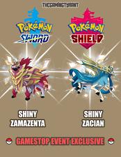 Pokemon Sword and Shield Shiny Zamazenta Zacian Gamestop Exclusive