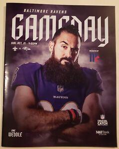 BALTIMORE RAVENS 2018 NFL GAME PROGRAM vs NEW ORLEANS SAINTS