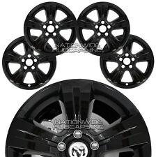 "4 Gloss BLACK 2010-2012 Dodge CALIBER 17"" Wheel Skins Hub Caps Alloy Rim Covers"