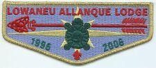 OA FLAP - LOWANEU ALLANQUE - OA LODGE# 41 - S26 - LODGE 10TH ANN (1996-2006)