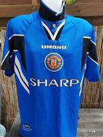 Umbro Manchester United The Red Devils Trikot Gr. L Retro Saison 1996 / 1997 TOP