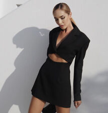 Zara Black Limited Edition Cut Out Mini Blazer Dress.  Size XS