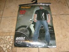 BAD @SS BIKER VEST HALLOWEEN COSTUME COSPLAY SONS ONE SIZE Fits Most