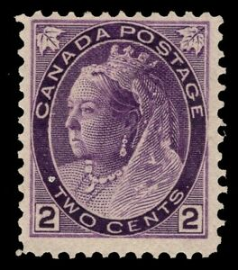 """CANADA #76  2c   MH OG   QV  """"NUMERAL"""" ISSUE 1899 FINE"""
