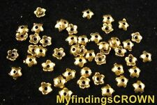 1400 pcs Antiqued gold smooth star bead caps FC1228