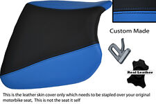 Negro Y Azul Custom encaja Kawasaki Ninja Zx9 R 94-97 Frontal De Cuero Funda De Asiento
