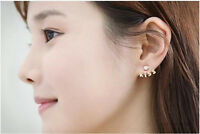 Korean Style New Fashion KISS Letters Rhinestone Cute Stud Earrings Jewelry Gift