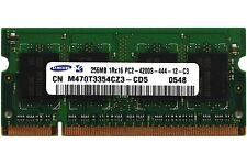 10x 256MB DDR2 PC2-4200 533MHz Laptop Sodimm RAM Speicher 200-Pin Menge Arbeit