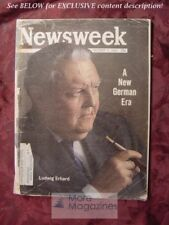 NEWSWEEK magazine October 7 1963 Oct 63 10/07/63 LUDWIG ERHARD GERMANY +++
