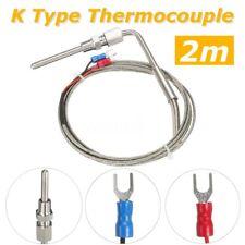 2M K Type Thermocouple Exhaust Probe High Temperature Sensors Threads 0–1100°C
