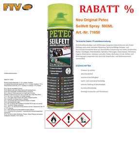 Neu Original Petec 71650 Seilfett 500ml Drahtseilfett Zahnradfett Fettspray