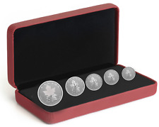 2022 Canada Maple Leaf Radiant Crown 1.90 oz .999 Silver Coin Set - 3,000 Made