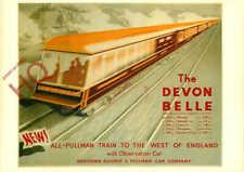 Picture Postcard_ RAIL POSTER, THE DEVON BELLE (REPRO)
