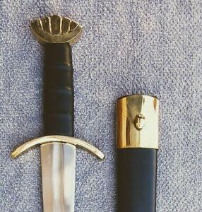 "NEW! 38"" Medieval Brass Viking Warrior Sword"