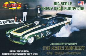 Atlantis 1494 (Revell) Green Elephant Vega Funny Car plastic model kit 1/16