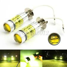 New 2pcs Yellow H3 80W LED Golden Fog Tail Break Turn DRL Head Light Lamp Bulbs