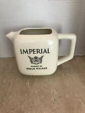 Vintage Imperial Hiram Walker Whiskey Pitcher Made In USA