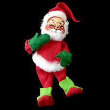 "Annalee Santa Doll Mobilitee Lime Green Boots 7"" Vintage Xmas Decor"