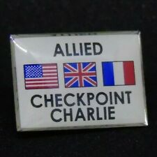 BERLIN WALL souvenir Checkpoint Charly Pin Allied Flags
