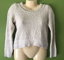 Moth Small Cardigan Sweater Crop Top  S Anthropology Button Down Back