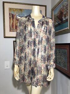 Trent Nathan 14 Sheer Floral Silk Overshirt